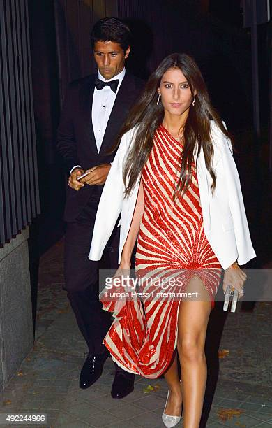 Fernando Verdasco and Ana Boyer attend a private dinner to homage to Anna Wintour AT USA Embassy on September 28 2015 in Madrid Spain
