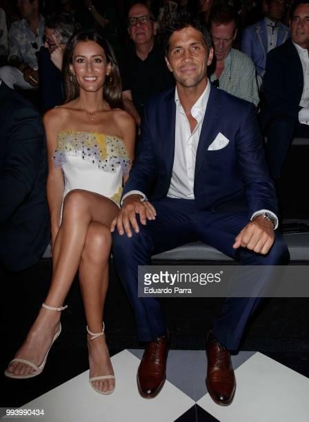 Fernando Verdasco and Ana Boyer attend Pedro del Hierro show at Mercedes Benz Fashion Week Madrid Spring/ Summer 2019 on July 8 2018 in Madrid Spain