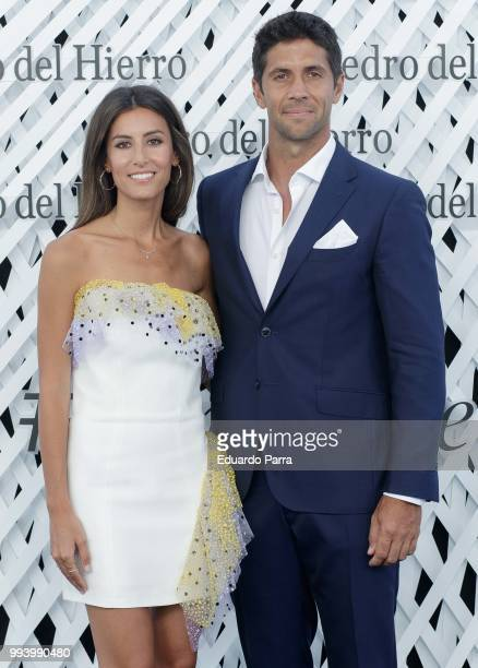 Fernando Verdasco and Ana Boyer attend Pedro del Hierro show at Mercedes Benz Fashion Week Madrid Spring/ Summer 2019 on July 8 2018 in Madrid Spain