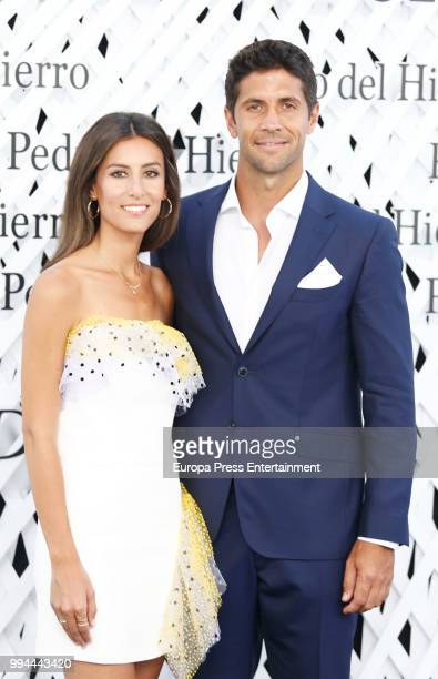 Fernando Verdasco and Ana Boyer attend the Pedro del Hierro show at Mercedes Benz Fashion Week Madrid Spring/ Summer 2019 on July 8 2018 in Madrid...
