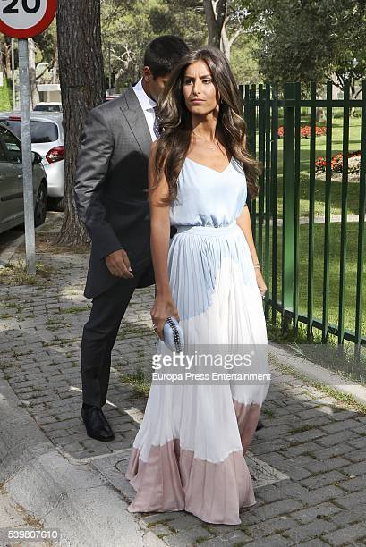 Fernando Verdasco and Ana Boyer attend the wedding of Juan Carmona and Sara Verdasco at Santos Apostoles church on June 10 2016 in Madrid Spain