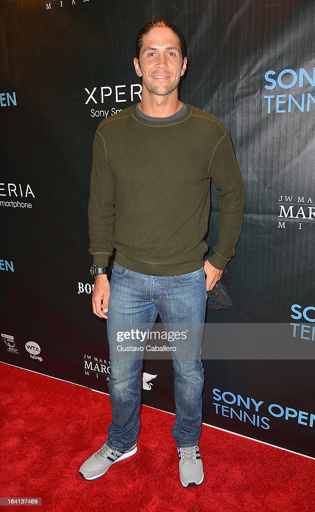 Fernando Verdasco arrives at Sony Open Player Party 2013 at JW Marriott Marquis on March 19, 2013 in Miami, Florida.