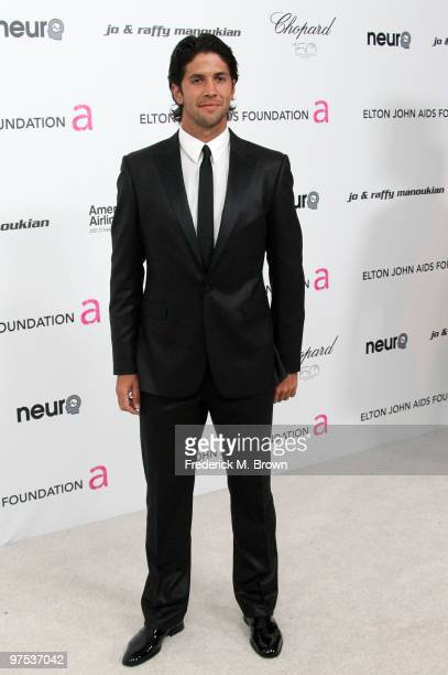 Fernando Verdasco arrives at the 18th annual Elton John AIDS Foundation's Oscar Viewing Party held at the Pacific Design Center on March 7 2010 in...