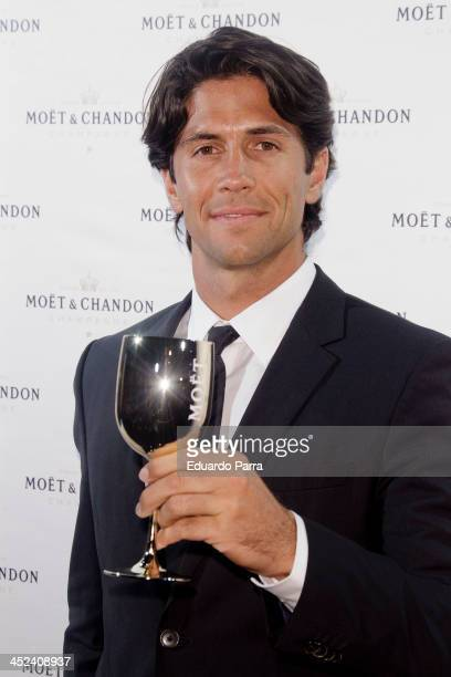 Fernando Verdasco attends 'Moet Golden Glass' party photocall at Le Boutique on November 28 2013 in Madrid Spain