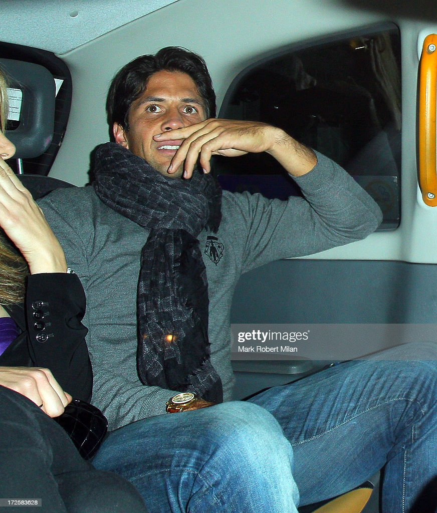 Fernando Verdasco leaving Lou Lou's club on July 3, 2013 in London, England.