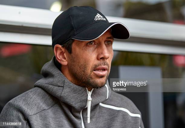 Fernando Verdasco of Spain attends the media during the Barcelona Open Banc Sabadell 2019 at Real Club de Tennis de Barcelona on April 22 2019 in...
