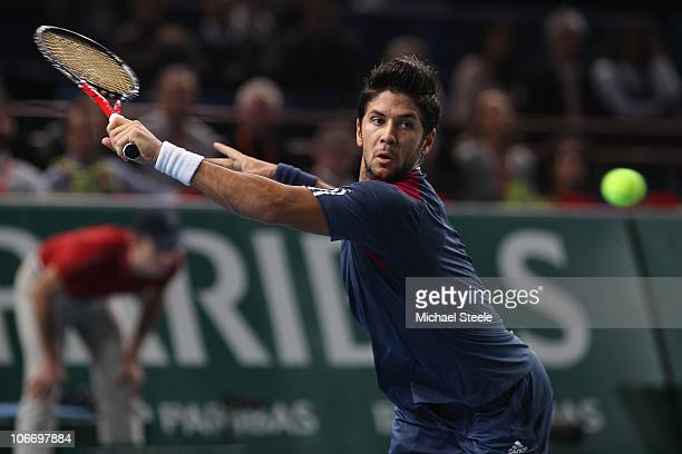 Fernando Verdasco of Spain during his match against Gael Monfils of France during Day Five of the ATP Masters Series Paris at the Palais Omnisports...
