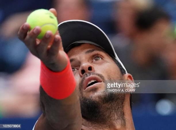 Fernando Verdasco of Spain plays against Andy Murray of Great Britain during Day 3 of the 2018 US Open Men's Singles match at the USTA Billie Jean...