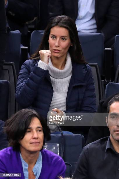 Fernando Verdasco's wife Ana Boyer is seen supporting her husband during day two of the Rolex Paris Masters on October 30 2018 in Paris France