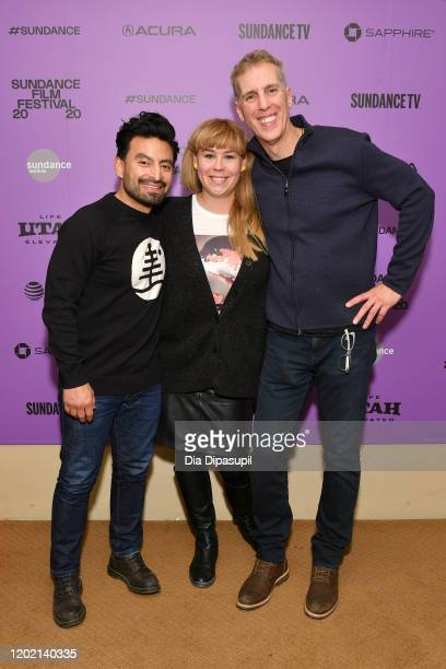 Fernando Villena Ania Trzebiatowska and James D Stern attend the 2020 Sundance Film Festival Giving Voice Premiere at Egyptian Theatre on January 26...