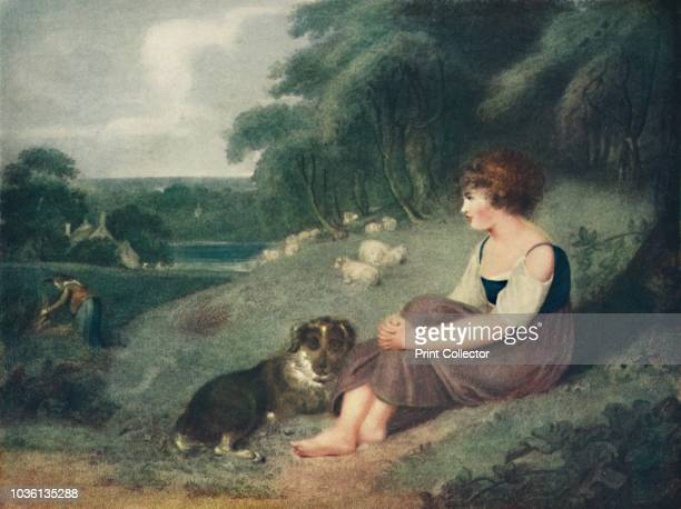 A FernCutter's Child' circa 1800 Countryside scene From English Rural Life in the Eighteenth Century by W Gaunt [The Connoisseur London 1925] Artist...