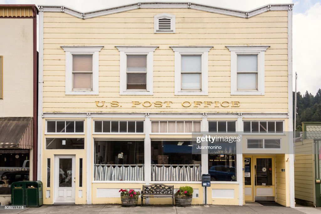 Ferndale, California - US Postal Office Old building : Stock Photo