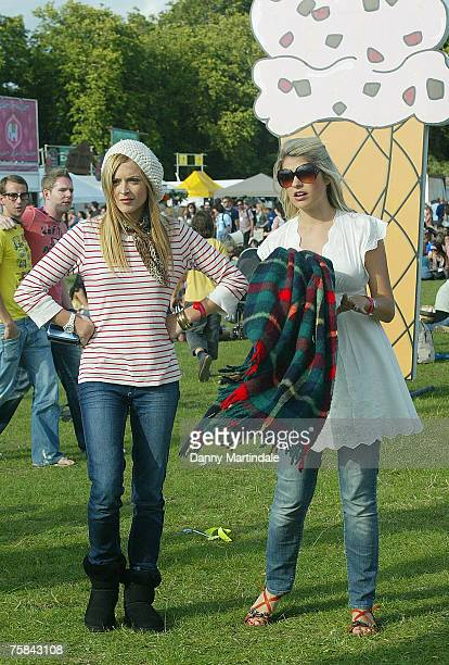 Ferne Cotton and Holly Willoughby attend Ben and Jerry's Sundae on July 28 2007 in London United Kingdom