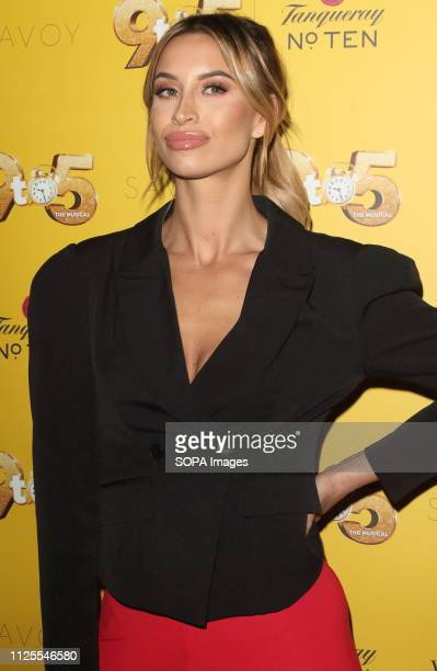 Ferne McCann arrives for the 9 to 5 the Musical Gala Night at The Savoy Theatre The Strand