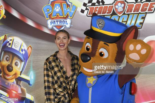 """Ferne McCann attends the gala screening of """"Paw Patrol"""" at Cineworld Leicester Square on January 19, 2020 in London, England."""