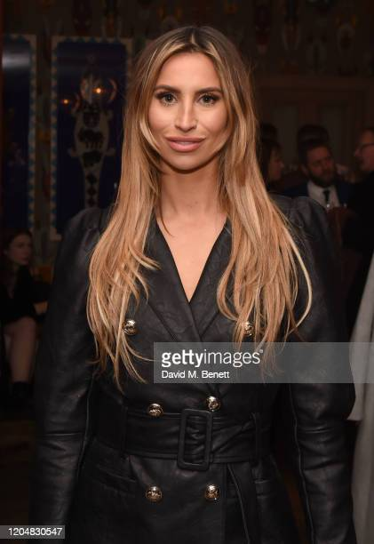 """Ferne McCann attends the press night after party for """"Pretty Woman"""" at The Ham Yard Hotel on March 2, 2020 in London, England."""