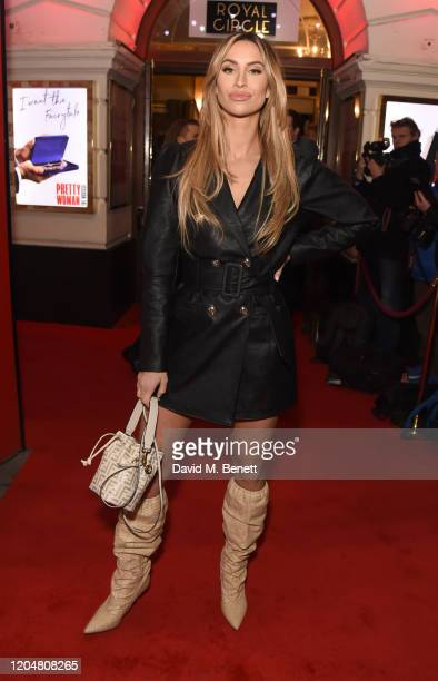 """Ferne McCann attends the press night performance of """"Pretty Woman"""" at the Piccadilly Theatre on March 2, 2020 in London, England."""