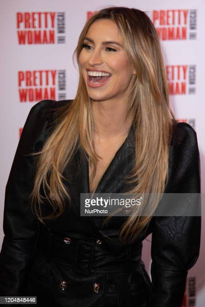 Ferne McCann attends the press night performance of ''Pretty Woman'' at the Piccadilly Theatre on March 2, 2020 in London, England.