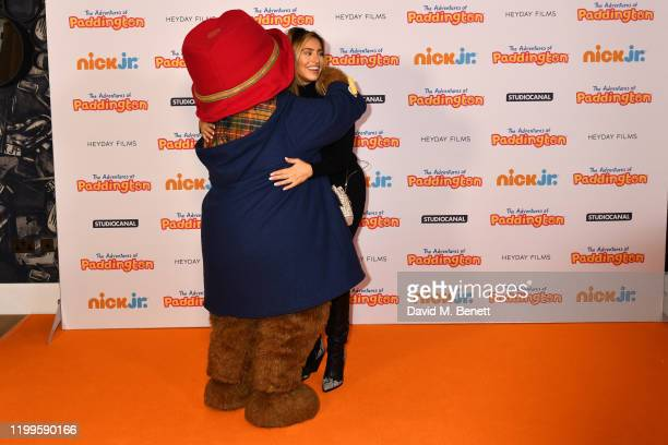 """Ferne McCann attends the UK Premiere of """"The Adventures Of Paddington"""" at The Ham Yard Hotel on February 9, 2020 in London, England."""