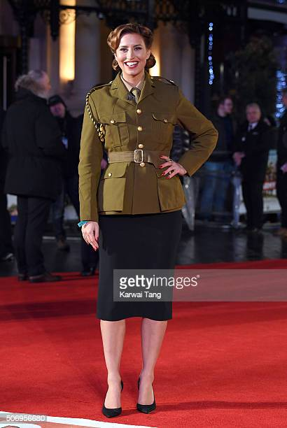 Ferne McCann attends the World Premiere of 'Dad's Army' at Odeon Leicester Square on January 26 2016 in London United Kingdom