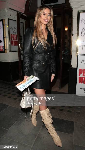 Ferne McCann seen attending Pretty Woman - press night at Piccadilly Theatre on March 02, 2020 in London, England.