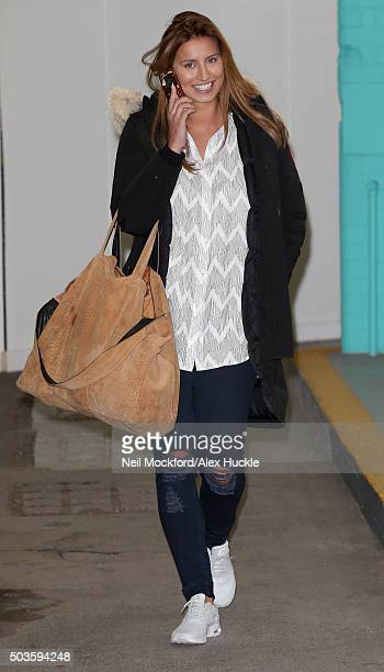 Ferne McCann seen leaving the ITV Studios on January 6 2016 in London England