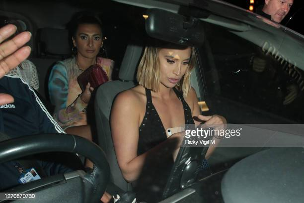Ferne McCann seen on a night out at Amazonico restaurant in Mayfair on September 05, 2020 in London, England.