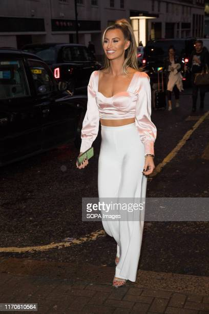 Ferne McCann the wellloved television personality and gourmet creates her own signature cocktail 'The Ferne McCann Cocktail' at Boisdale of Mayfair