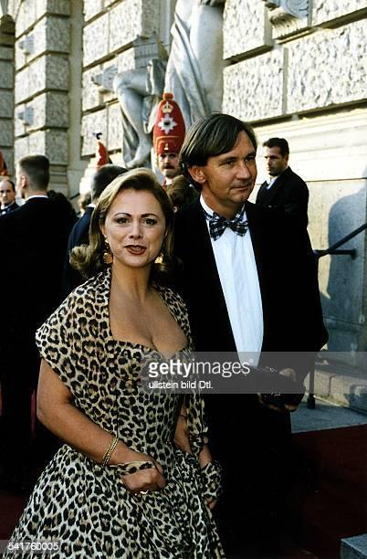 Fernsehmoderatorin NL mit Ehemann Cees van den Herik 1996