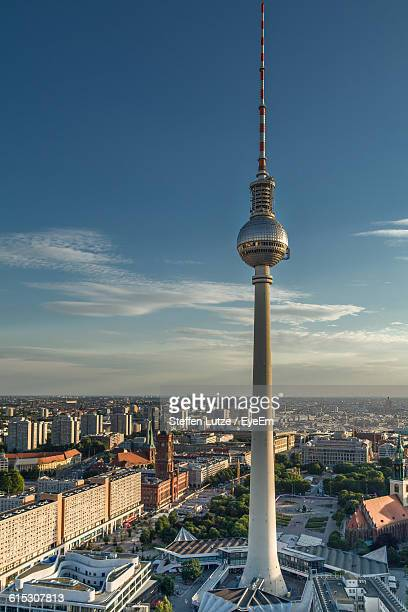 Fernsehturm Against Buildings In City
