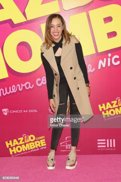 Ferny Graciano attends the Hazlo Como Hombre Mexico City premiere at Cinepolis Oasis Coyoacan on August 8 2017 in Mexico City Mexico