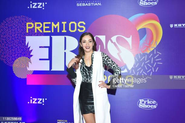 Ferny Graciano poses for photos during Eres Awards 2019 red carpet at Campo Marte on March 11 2019 in Mexico City Mexico