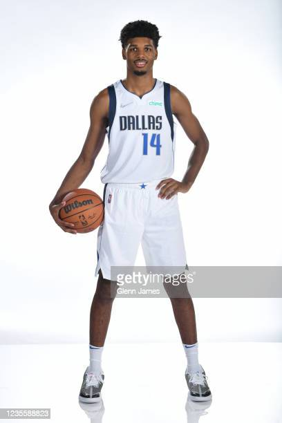 Feron Hunt of the Dallas Mavericks poses for a portrait during NBA media Day on September 28, 2021 at American Airlines Center in Dallas, Texas. NOTE...
