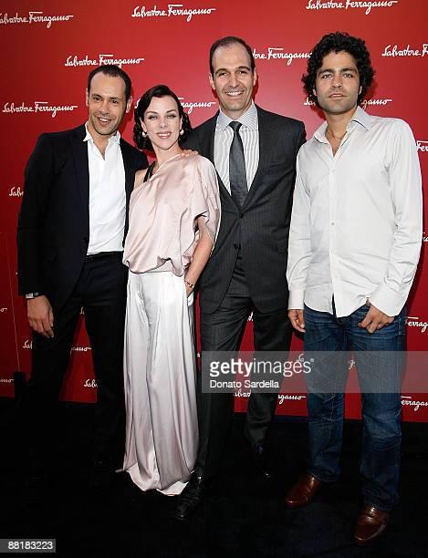 Ferragamo designer Massimiliano Giornetti actress Debi Mazar, President of Ferragamo USA Vincent Ottomanelli and actor Adrian Grenier attend the...
