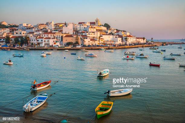 ferragudo in algarve - algarve stock photos and pictures