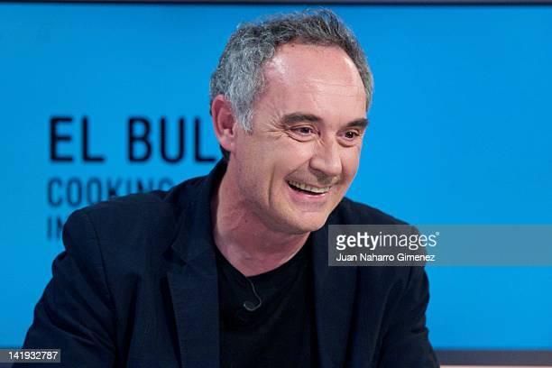 """Ferran Adria attends """" El Hormiguero """" TV show at Vertice 360 Studio on March 26, 2012 in Madrid, Spain."""