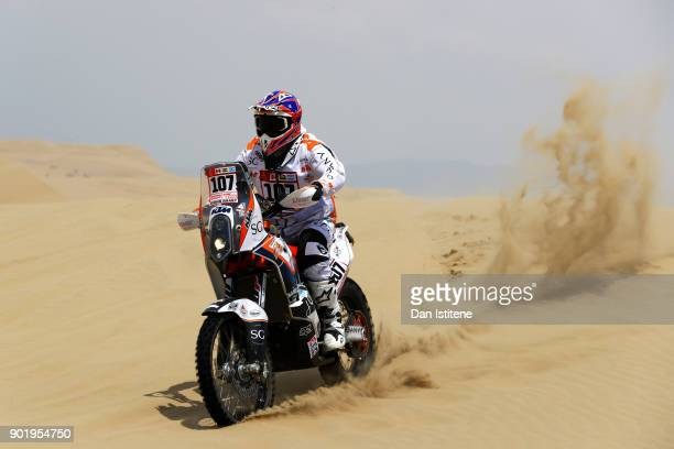 Ferran Jubany of Spain and Duust Rally rides a KTM 450 Rally Replica bike in the Classe 21 Super Production during stage one of the 2018 Dakar Rally...