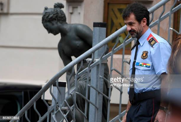 Ferran Lopez head of the territorial coordination of the Catalan police known as Mossos d'Esquadra leaves a coordination security meeting on...