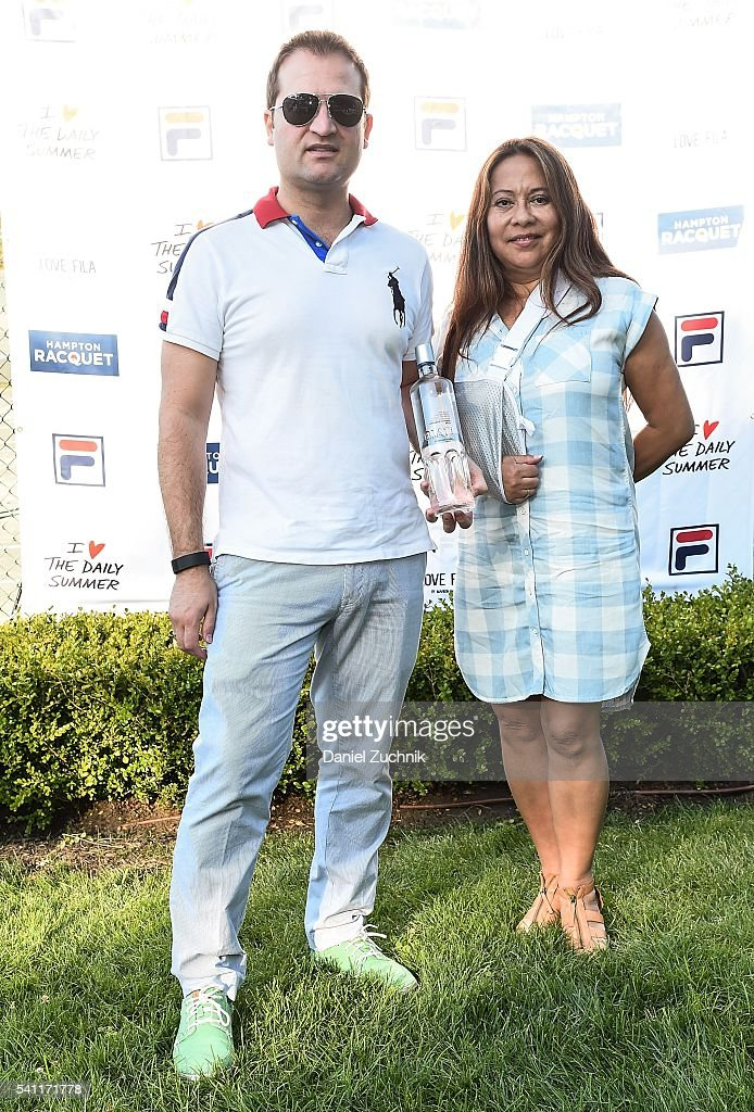 Ferran Sanfelimon(L) attends The Daily Summer's celebration of Marion Bartoli's new LOVE FILA collection at Hampton Racquet on June 18, 2016 in East Hampton, New York.