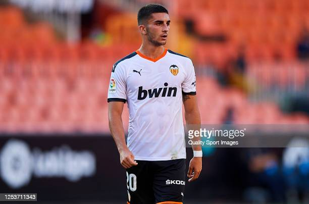 Ferran Torres of Valencia CF looks on during the Liga match between Valencia CF and Athletic Club at Estadio Mestalla on July 01 2020 in Valencia...