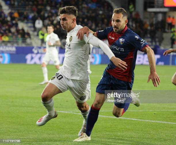 Ferran Torres of Valencia during the La Liga match between SD Huesca and Valencia at El Alcoraz on May 5 2019 in Huesca Spain