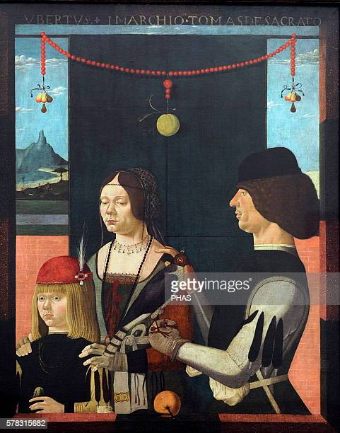 Ferraresischer Maler Painter 15th century Family portrait 1480 Alte Pinakotheka Munich Germany