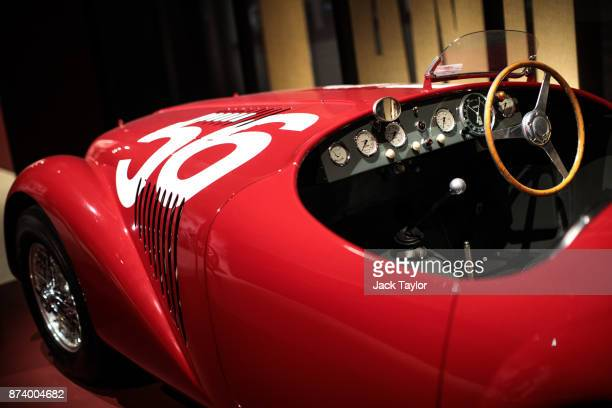 Ferrari 125 S 1947 on display at the 'Ferrari Under the Skin' exhibition at the Design Museum on November 14 2017 in London England £140M worth of...