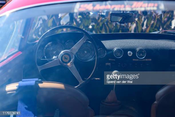 Ferrari 250 GT Berlinetta Tour de France 1957 italian classic sports car interior on display at the 2019 Concours d'Elegance at palace Soestdijk on...
