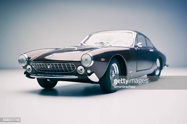 ferrari 250 gt lusso model car on white - ferrari stock pictures, royalty-free photos & images