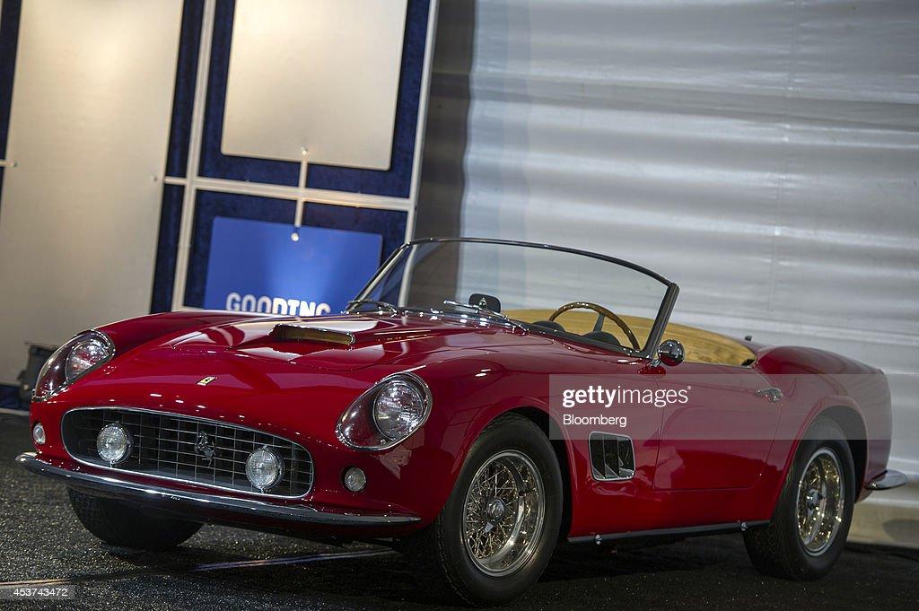 Ferrari 250 Gt Swb California Spyder Automobile Is Displayed During