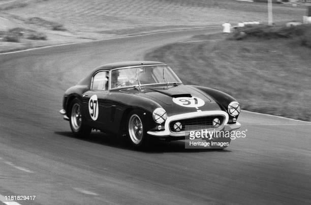 Ferrari 250 SWB driven by Michael Parkes 1961 Brands Hatch International Meeting Creator Unknown