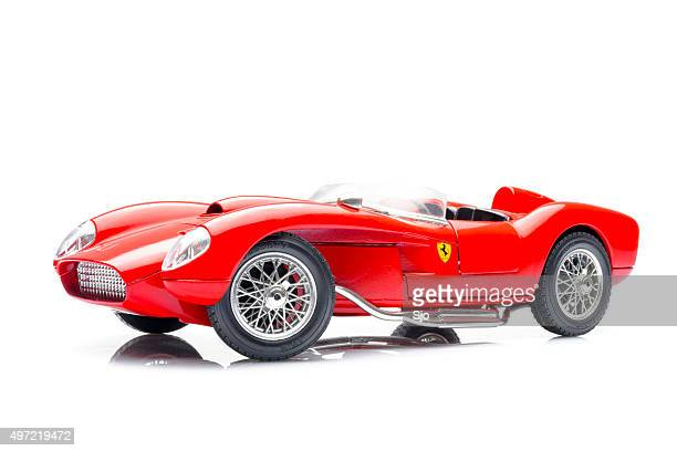 ferrari 250 testa rossa classic race car model - ferrari stock pictures, royalty-free photos & images