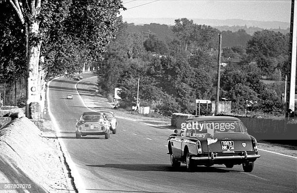 Ferrari 250GTE Course Car takes to the track at Le Mans 24hours race France 1963