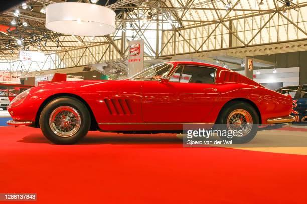 Ferrari 275 GTB classic sports car on display at Amsterdam motor show AutoRAI on February 9, 2005 in Amsterdam, The Netherlands.
